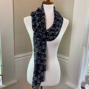 Accessories - Silky-feeling Navy Lightweight Sheer Scarf